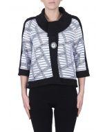 Joseph Ribkoff White/Black Jacket Style 172897