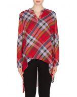 Joseph Ribkoff Red/Multi Blouse Style 173560