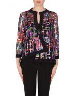 Joseph Ribkoff Blue/Pink/Multi/Black Jacket Style 173641