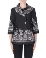 Joseph Ribkoff Black/Off-White Jacket Style 183517