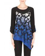 Joseph Ribkoff Black/Azure Blue/Multi Tunic Style 183583