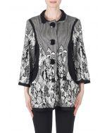Joseph Ribkoff Black/Off-White Jacket Style 183663