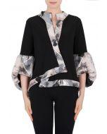 Joseph Ribkoff Pink/Grey/Black Jacket Style 184761
