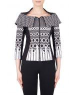 Joseph Ribkoff Black/Off-White Jacket Style 184896