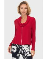 Joseph Ribkoff Lipstick Red Top 191142