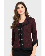 Joseph Ribkoff Black/Red Jacket Style 194665