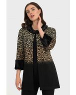 Joseph Ribkoff Black/Taupe Coat Style 194703
