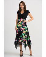 Joseph Ribkoff Black/Multi Dress Style 201134