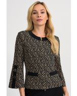 Joseph Ribkoff Black/Beige Jacket Style 201489