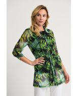 Joseph Ribkoff Black/Green/Multi Jacket Style 202085