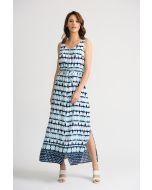 Joseph Ribkoff Vanilla/Indigo Dress Style 202218