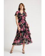 Joseph Ribkoff Black/Multi Dress Style 202429