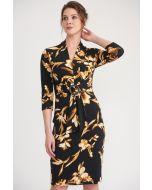 Joseph Ribkoff Black/Brown Dress Style 203204