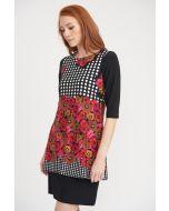 Joseph Ribkoff Black/Multi Dress Style 203214