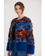 Joseph Ribkoff Blue/Multi Coat Style 203235