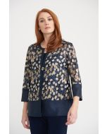 Joseph Ribkoff Midnight/Gold Jacket Style 203270