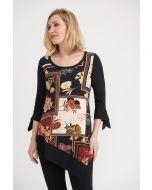 Joseph Ribkoff Black/Multi Tunic Style 203301