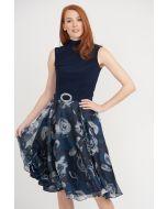 Joseph Ribkoff Midnight/Multi Dress Style 203321