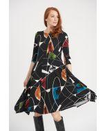 Joseph Ribkoff Black/Multi Dress Style 203426