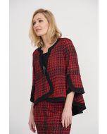Joseph Ribkoff Black/Red Jacket Style 203473