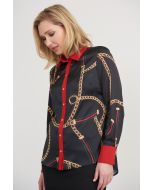 Joseph Ribkoff Black/Multi Blouse Style 203603