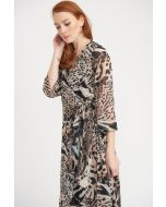 Joseph Ribkoff Black/Multi Dress Style 203654