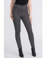 Joseph Ribkoff Black/Ivory/Gold Pants Style 204074