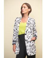 Joseph Ribkoff  Vanilla/Black Blazer Style 211152