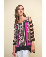 Joseph Ribkoff Black/Multi Top Style 211325