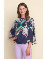 Joseph Ribkoff Multi Printed Blouse Style 212016