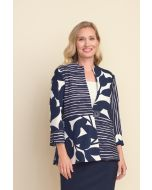 Joseph Ribkoff Midnight Blue/White Jacket Style 212046