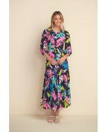 Joseph Ribkoff Midnight Blue Maxi Shirt Dress Style 212256