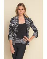 Joseph Ribkoff Black/Vanilla Two Piece Jacket Style 212266