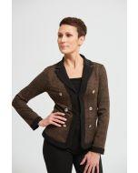 Joseph Ribkoff Black/Brown Checkered Print Jacket Style 213023