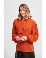 Joseph Ribkoff Topaz Neck-Tie Georgette Blouse Style 213332