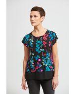 Joseph Ribkoff Black/Multi Top Style 213382