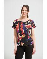 Joseph Ribkoff Black/Multi Paisley Top Style 213574