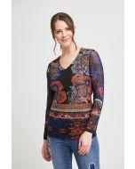Joseph Ribkoff Black/Multi Top Style 213598