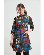 Joseph Ribkoff Black/Multi Coat Style 213623