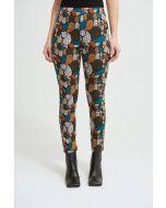 Joseph Ribkoff Black/Multi Abstract Print Pants Style 213644