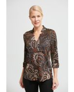 Joseph Ribkoff Black/Multi Paisley Print Top Style 213667