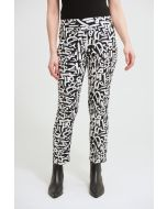 Joseph Ribkoff Black/Vanilla Abstract Print Pant Style 213696