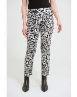 Joseph Ribkoff Black/Vanilla Abstract Print Pant Style 213696