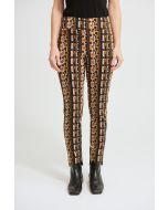 Joseph Ribkoff Black/Multi Geometric Print Pants Style 213697
