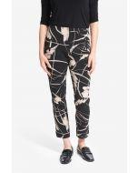 Joseph Ribkoff Black/Sand Cropped Printed Pants  Style 214278