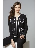 Joseph Ribkoff Black/Vanilla Cover Up Style 181135