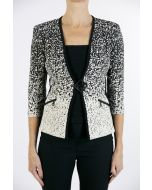 Joseph Ribkoff Beige/Black Jacket Style 163896G