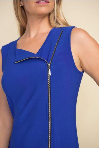 Joseph Ribkoff Royal Sapphire Side Zip Dress Style 212306