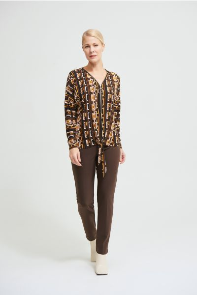 Joseph Ribkoff Mocha High-Waist Pants Style 144092