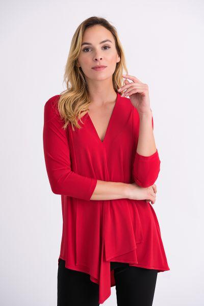 Joseph Ribkoff Tunic Style 161066 - Red
